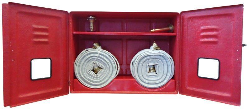 Caixa para mangueira de incêndio de fibra