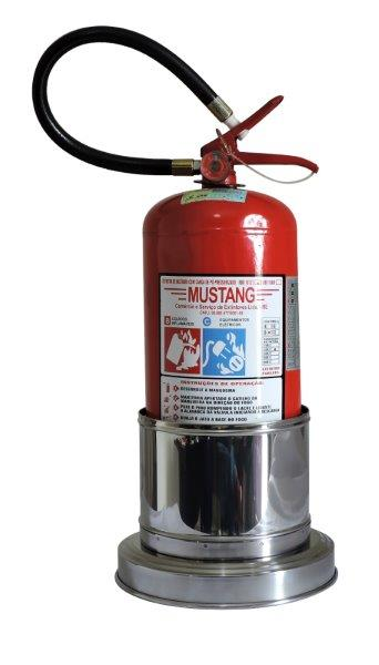 Suporte de inox para extintor de incêndio