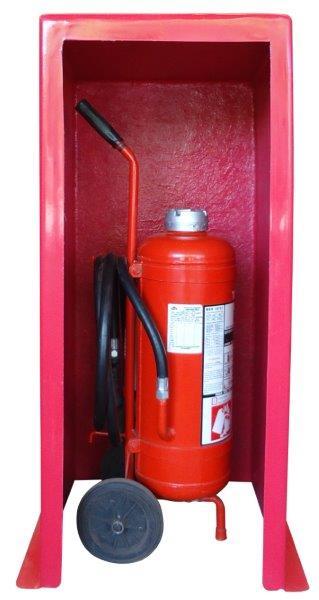 Abrigo para extintor carreta