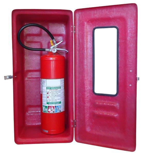 Abrigo para extintor de incêndio em fibra