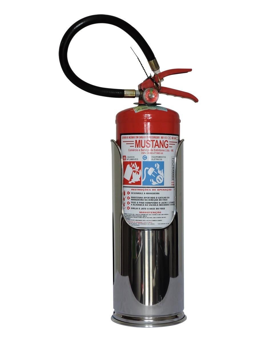 Suportes para extintores em aço inox