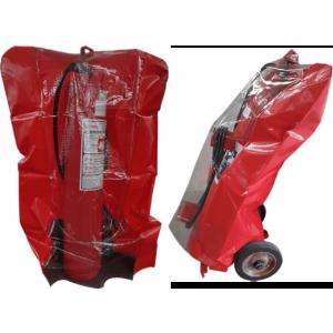 PVC com visor – extintor sobre rodas